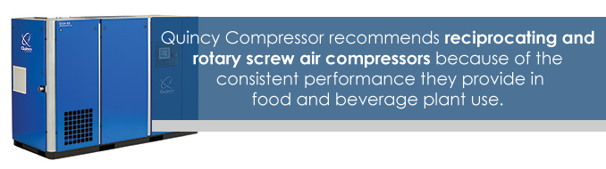 air compressors in the food and beverage industry