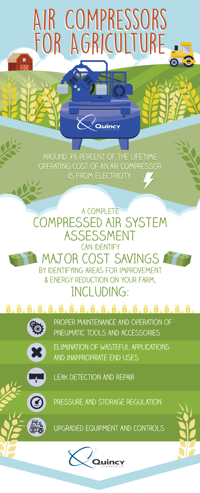 air compressor for agriculture