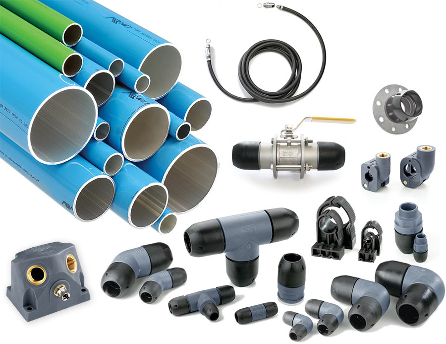 AIRnet piping and stainless steel options