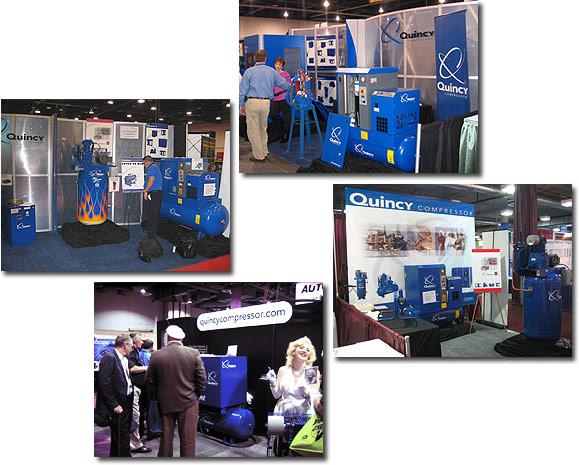 air compressor trade show booths
