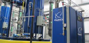 quincy compressor blue compressed air system
