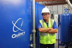 Quincy compressor employee