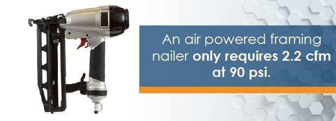 air pressure for nail gun