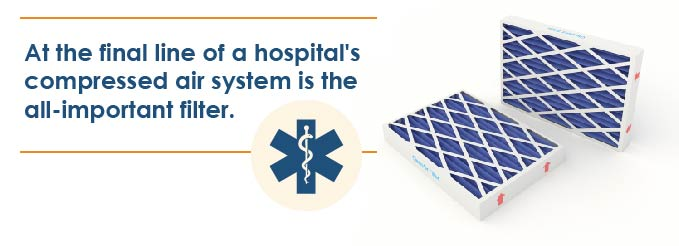 saving money on compressed air in hospitals