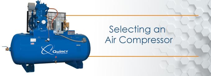 selecting an air compressor