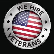 We Hire Veterans Badge