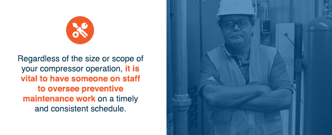 it is vital to have someone on staff to oversee preventative maintenance work