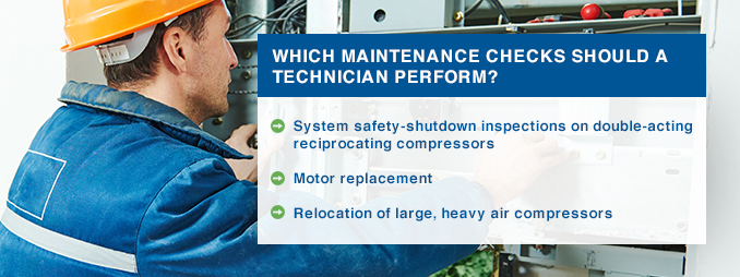 which maintenance checks should a technician perform?