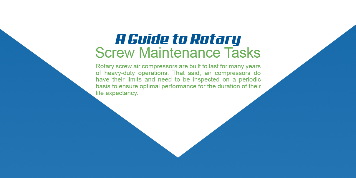 A guide to rotary screw maintenance tasks