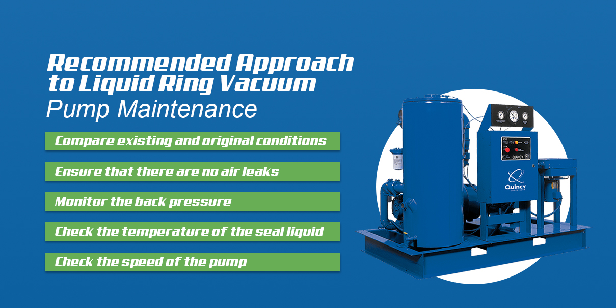 recommended approach to liquid ring vacuum pump maintenance