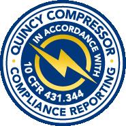 Quincy Compressor compliance reporting logo