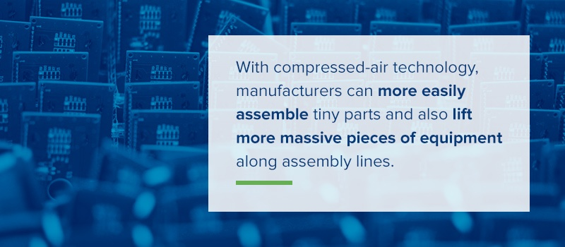 manufacturers can more easily assemble tiny parts and list pieces of equipment along assembly lines