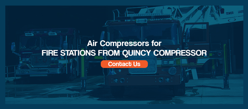 air compressors for fire stations from quincy compressor