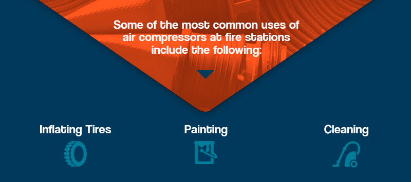 Common uses of air compressors at fire stations