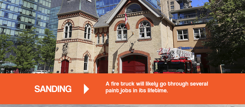 a fire truck will likely gothrough several paint jobs in its lifetime