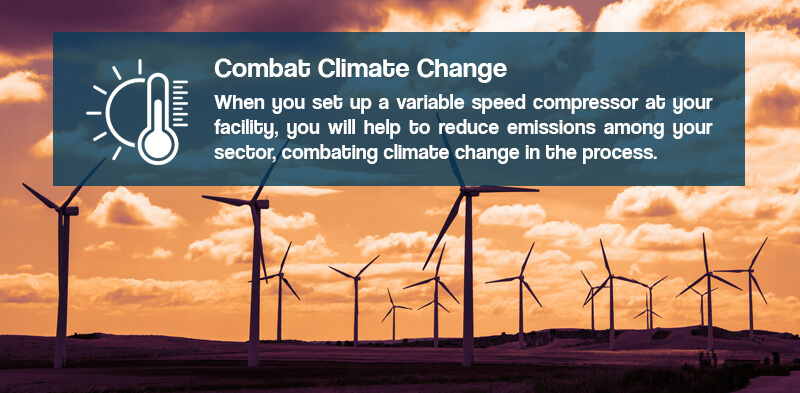 Reduce emissions with air compressors