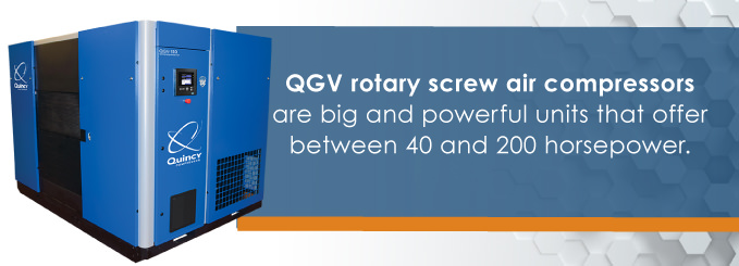 qgv compressors offer between 40 and 200 horsepower