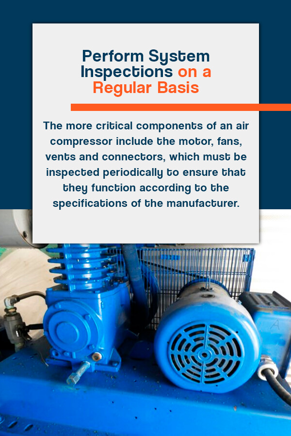 Perform an air compressor system inspection