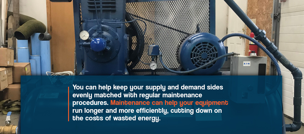 maintenance helps you air compressor equipment run longer and more efficiently