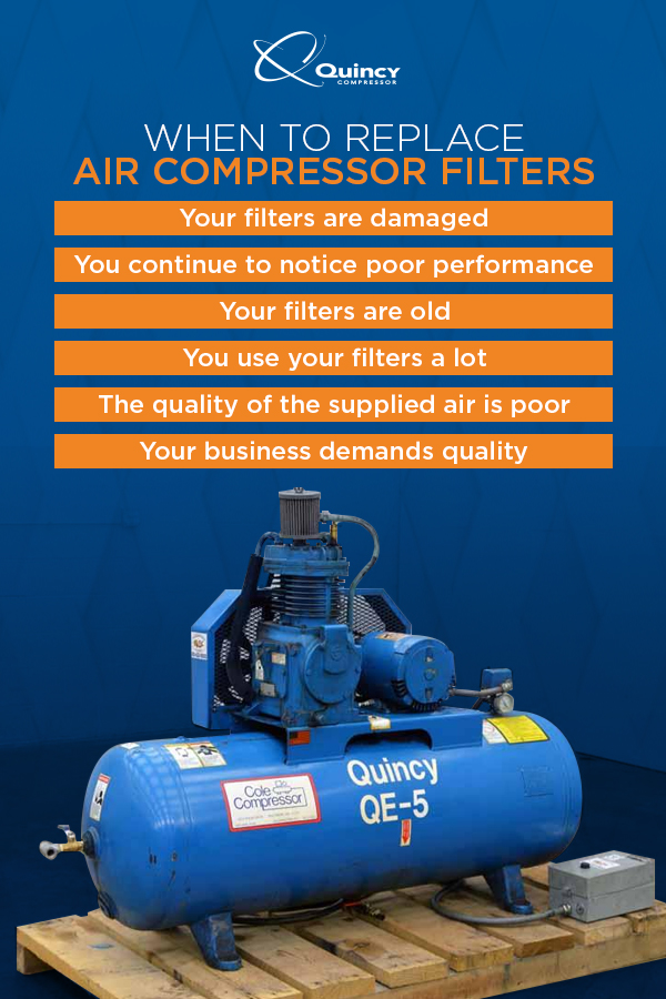 When to replace air compressor filters