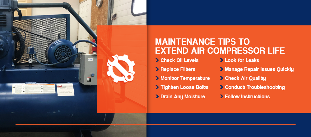 Maintenance tips to extend air compressor life
