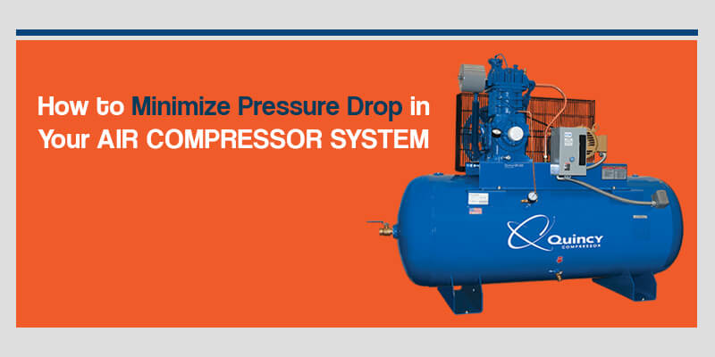 how to minimize pressure drops in air compressors