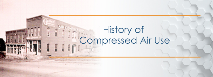 history of air compressor use