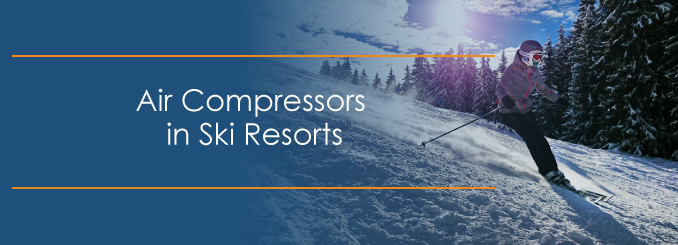how air compressors are used in snowmaking