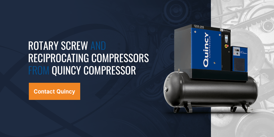 contact quincy for rotary and reciprocating compressors