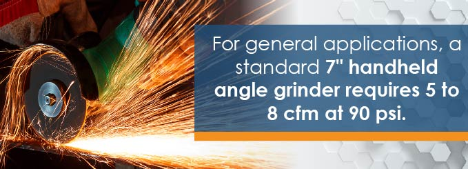 pressure for angle grinding