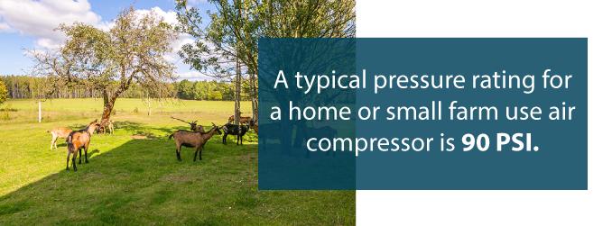 air compressor farm uses