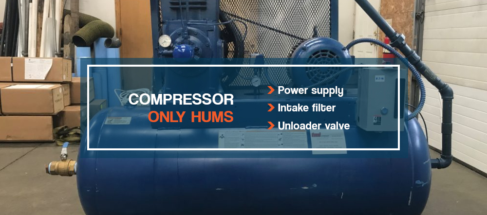 Compressor only hums