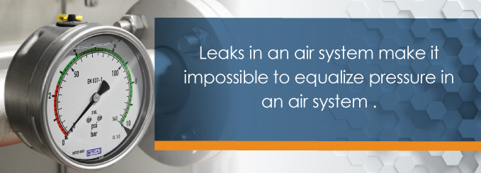 leaks in an air system