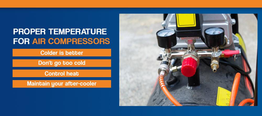 Proper temperature for air compressors