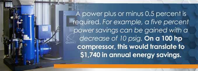 A power plus or minus 0.5 percent is required.