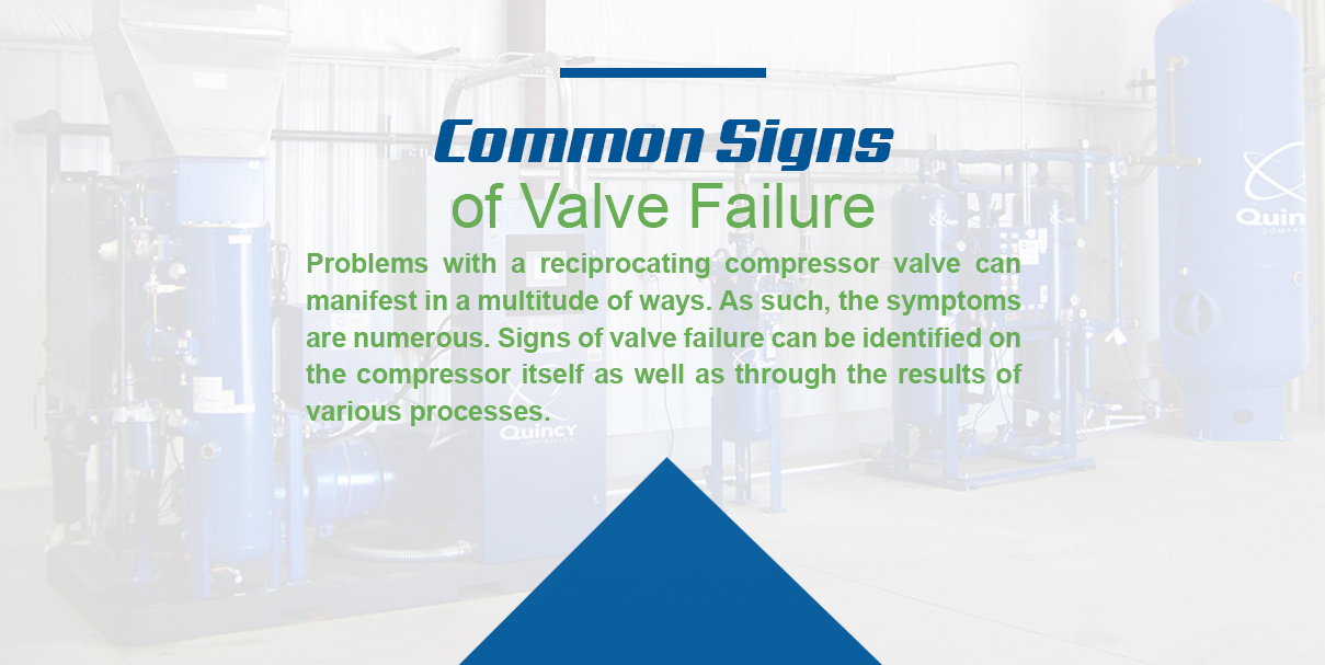 common signs of valve failure