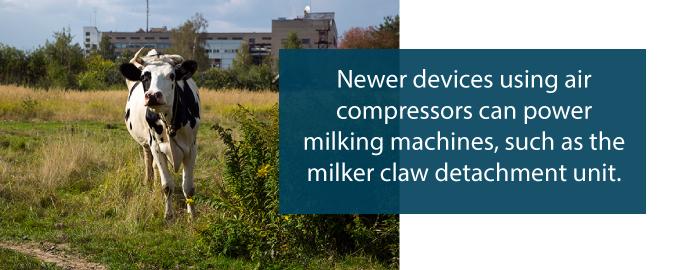 air compressor dairy farm uses