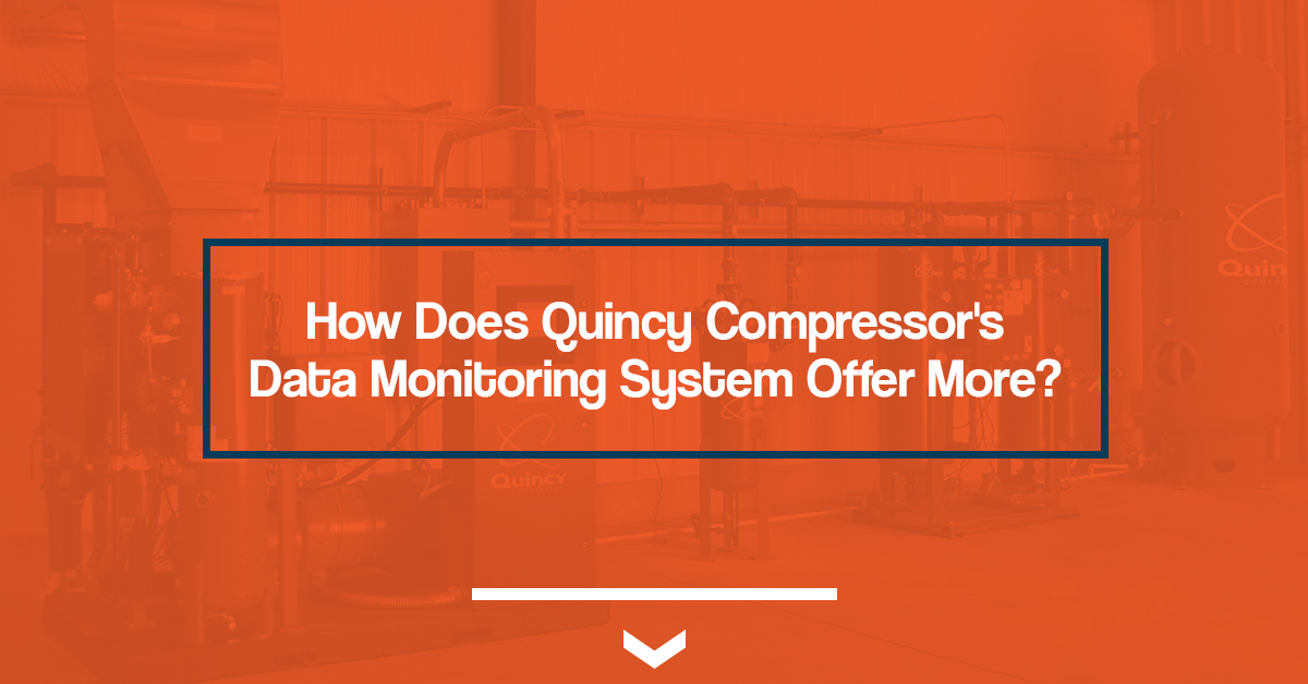 How does Quincy Compressor's data monitoring system offer more?