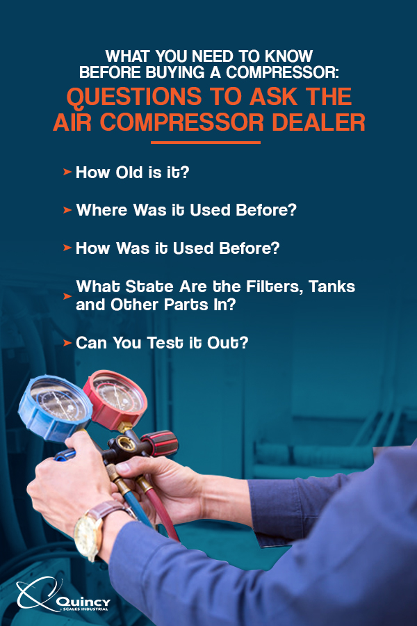 Questions to ask the air compressor dealer